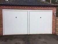 Henderson single white garage doors x 2
