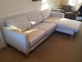 "Large IKEA ""karlstad"" sofa with chaise longue"