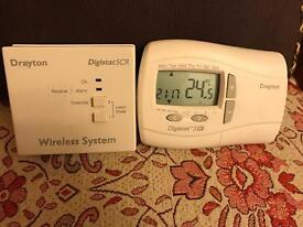 Drayton wireless boiler thermostat with receiver.