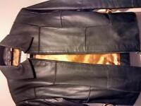 Genuine Real Leather ( Black) Short Biker /like Jacket VGC... £15