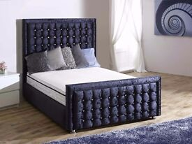 This week only! Brand new! Black crushed velvet beds.