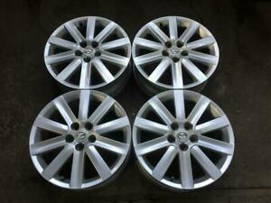 4 MAZDA MAZDASPEED 18 FACTORY ORIGINAL 10 SPOKE POWDER COAT SILVER MAGS