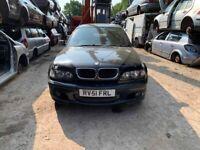 BREAKING BMW 330D Sport 4dr 3 Black door window glass wing front rear offside nearside bumper