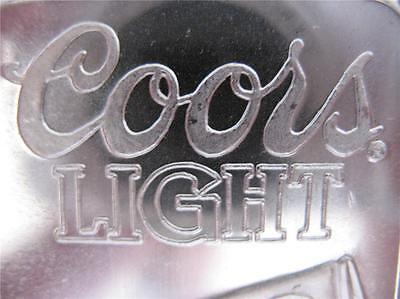 5-OZ. 999 PURE SILVER RARE COORS LIGHT SILVER BULLET SUNSHINE MINT ART BAR +GOLD