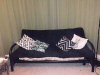 Double bed three seater sofa metal futon