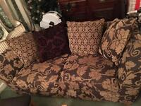 2 X large two seater sofas