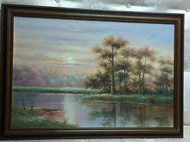 Oil Painting, Framed