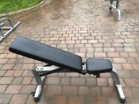 Body Solid adjustable bench and Squat Rack