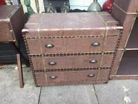 Quirky Vintage Style Suitcase Chest Of Drawers