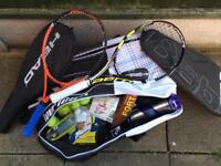 Tennis gear rackets etc
