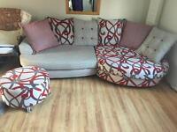 Beautiful Sofa With Footstool £450