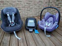 MAXICOSI car seats CABRIOFIX, PEARL and FAMILYFIX
