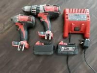 Milwaukee 18V Drill and Impact Driver Set
