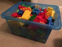 Big box of mixed Mega Bloks