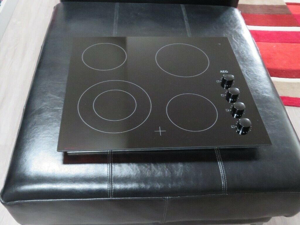 Enjoyable Aeg Hra64100Cb 59 Cms Black Ceramic Electric Hob As New In Wiring Digital Resources Aeocykbiperorg
