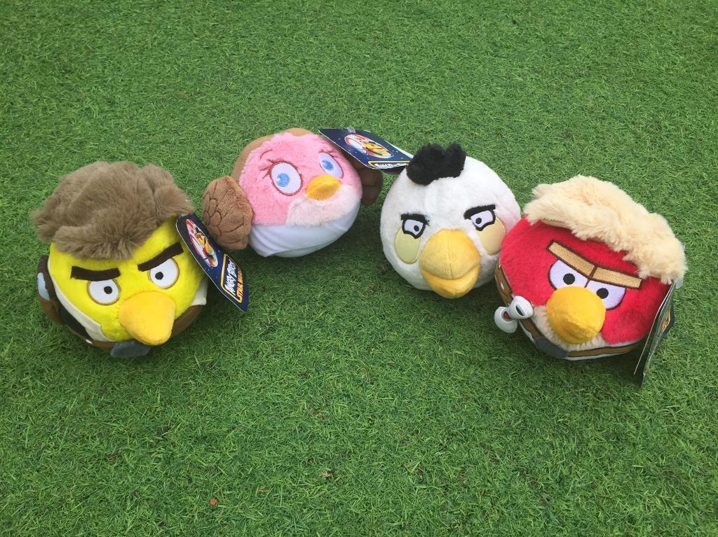 Angry Birds Star Wars Plush Toysin Bellshill, North LanarkshireGumtree - 3 Angry Birds Star Wars Plush Toys (all with tags on) & 1 generic Angry Bird (white)