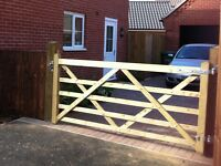Wooden five bar gate