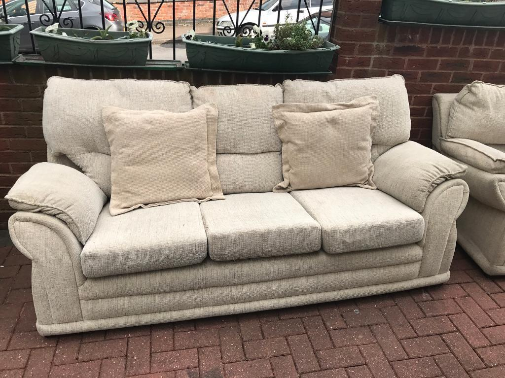 Sofain Sandwell, West MidlandsGumtree - Three seater and one seater fabric sofa good condition no marks or rips. Can be delivered