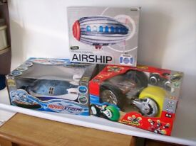 Bumper set of Radio control toys...Hovercraft...Airship and Space Buggy
