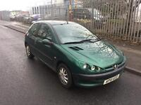 PEUGEOT 206 HDI DIESEL 3 DOOR HATCHBACK CHEAP CAR NOT CORSA PUNTO POLO CLIO