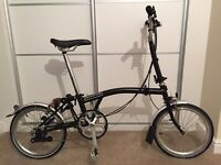 Brompton M6L M3L Folding Bike In Excellent Condition - Original Purchase Receipt Included