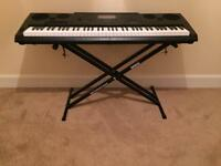 WK-7600 76 Key Piano style portable keyboard with Duronic Stand