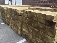 Wooden pressure treated garden sleepers