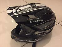 Wulfsport motor bike Helmet moto X motocross lid with goggles