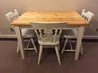 Gorgeous farmhouse style table and 3 chairs