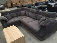 Brand new Charcoal grey corner sofa