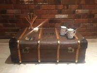 Stunning vintage trunk coffee table