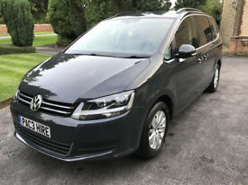 VW Sharan 7 seater hire - PCO Uber ready for rent - Diesel - Auto - NOT galaxy - rent car hire pco