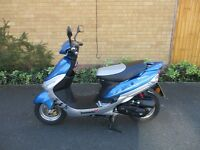 lexmoto scoult pulse 50cc scooter 63 plate, seven stamps in service book ,mot till september