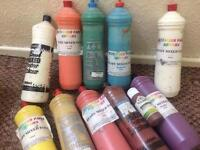 10 Ready Made Poster Paints+1 Acrylic