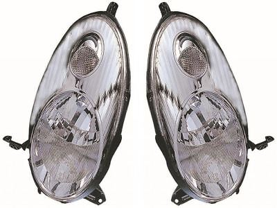 Nissan Micra K12 2003-2007 Chrome Front Headlight Headlamp Pair Left & Right