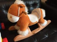 Child's rocking horse AND baby walker/play centre. £10 for BOTH