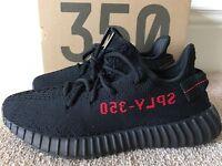 yeezy boost black/red V2 350