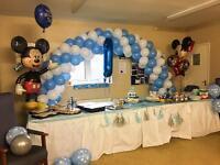 Balloon arch hire Table balloons Balloon decor Helium balloons in London area t