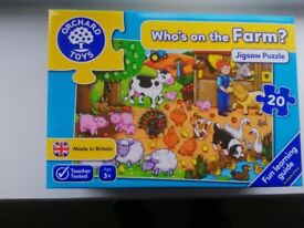 Orchard Toys - Who's on the Farm? 20 piece jigsaw puzzle (as new)