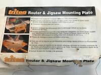 Jigsaw Router table mounting plate NEVER BEEN USED