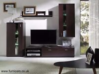 Modern Living Room Furniture Set TV Unit Cabinet Wall Shelf Glass Free Delivery