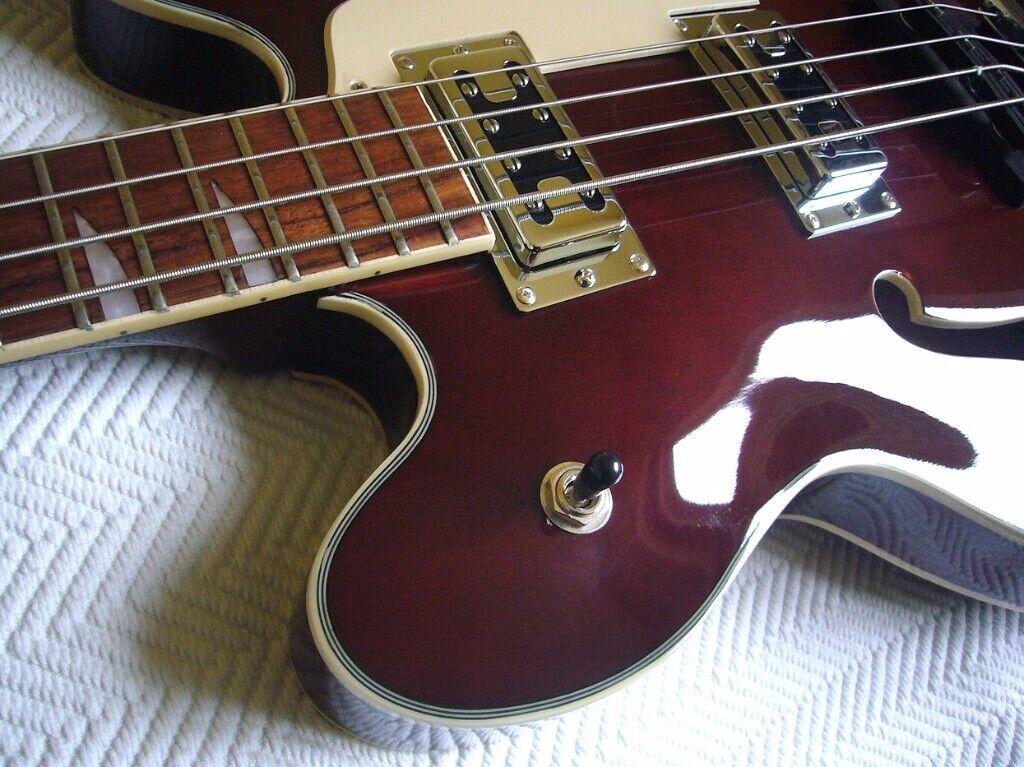 Semi Acoustic bass guitar for sale  Harley Benton HB 60  Like a Gibson bass  meets Gretsch bass! | in Blackheath, London | Gumtree