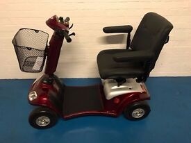 Ex Demo 2015 Kymco Super 4 4mph Mid Size Mobility Scooter in RED Silver