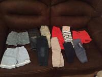 Baby boys first size and 0-3 clothes