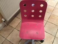 FREE Ikea Pink Jules Swivel Children chair