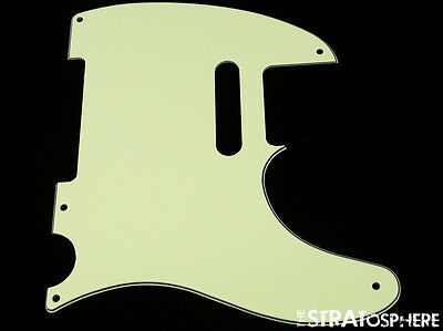 * NEW Mint Green Telecaster PICKGUARD for Fender USA Vintage Tele 3 Ply 5 Hole