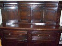 old solid wood welsh dresser