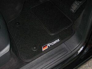Black Car Floor Mats - BMW 3 Series E92 M Sport (2006-2012) + German Power Logos
