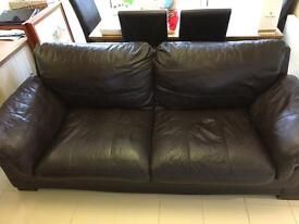 3 Seater Leather sofa brown (FREE )