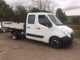 14 Vauxhall Movano 3500 Double Cab Alloy Dropside Tipper